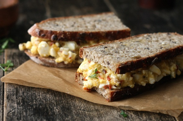 Chili and Fennel Egg Salad Sandwich