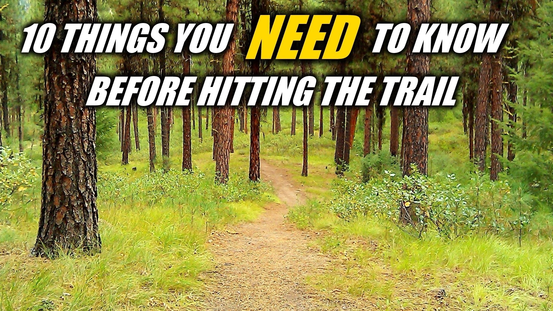 10 Things You NEED To Know Before Hitting The Trail