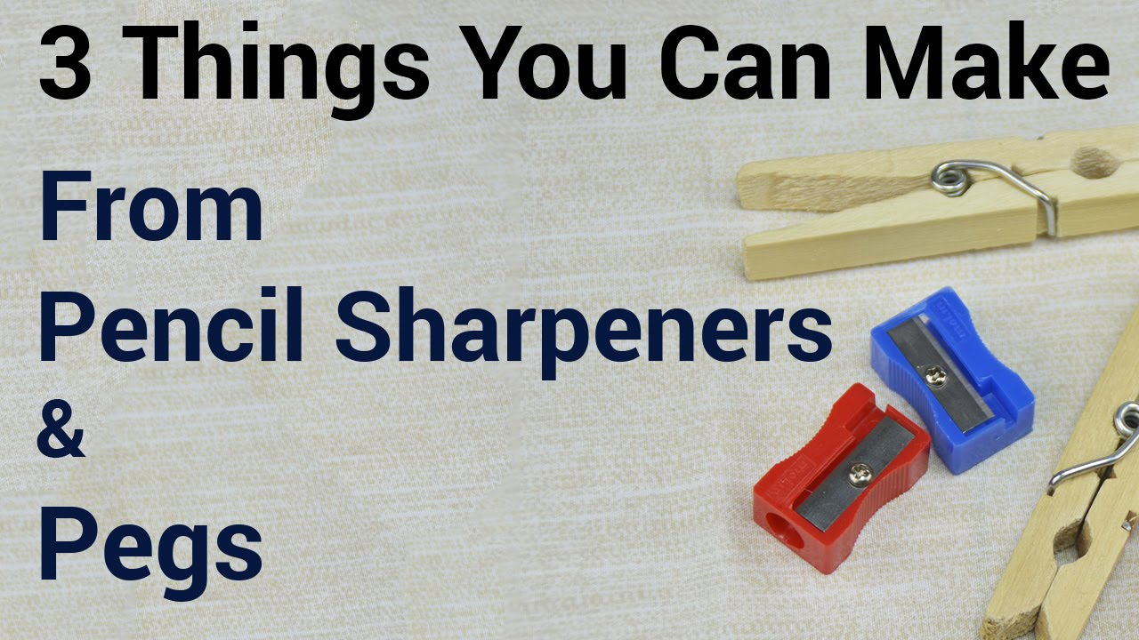 3 things you can make from pencil sharpeners pegs for Something you can draw