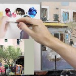 Acrylic painting tutorial – French cafe scene – Part 4
