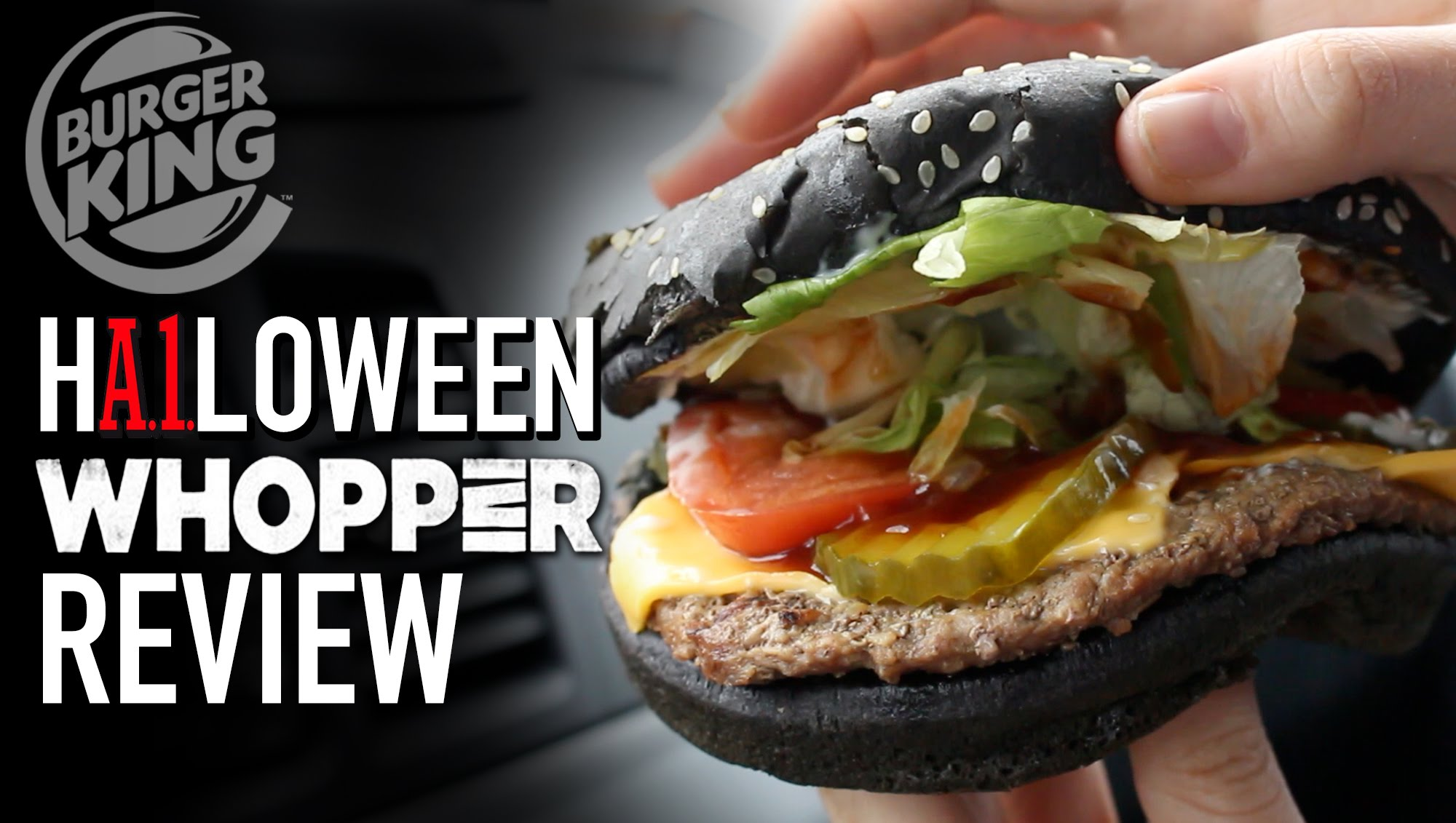 Burger King Halloween A1 Whopper Review   HellthyJunkFood   diy.fyi