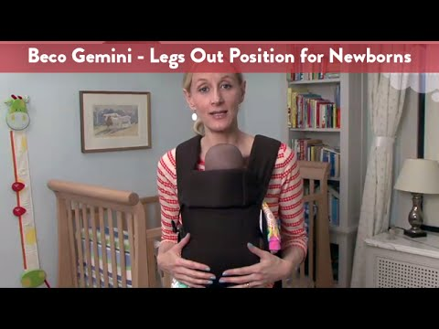 Carrying your Newborn Infant in the Beco Gemini Baby Carrier – Legs Out Position | CloudMom
