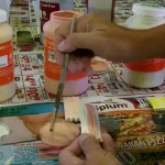 Cross-Mixing Commercial Glazes Pt 3/4 – Glazing The Test Tiles