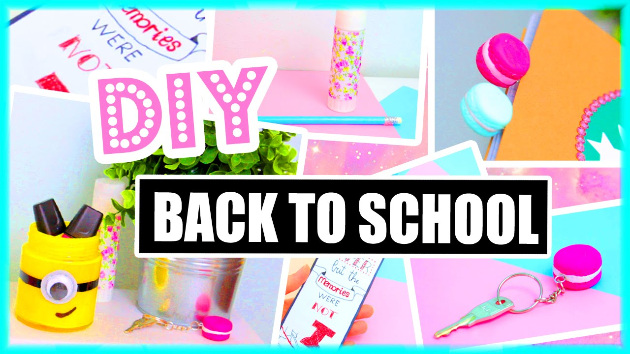 Diy back to school ideas supplies paper towns minions for Back to school notebook decoration ideas