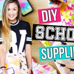 DIY Back to School Supplies: Binders, Pencil Case & Organization | LaurDIY