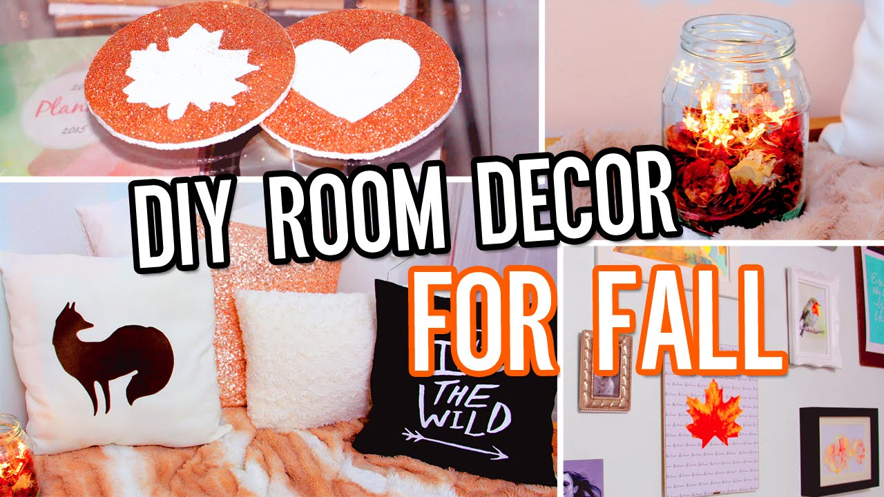 Diy room decor for fall make your room cozy no sew for Room decor you can make