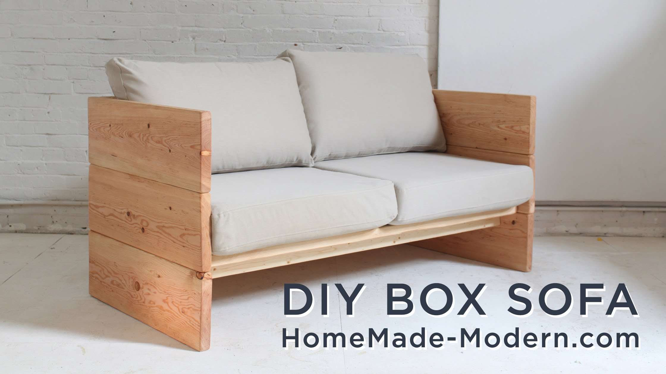 Diy Sofa Made Out Of 2x10s Diy Fyi