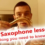 First saxophone lesson 1 🎷 – Everything you need to know in one video! First notes!