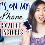 How I Edit my Instagram Photos + What's on my iPhone | JENerationDIY