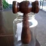 How to Make auctioneer or judge wooden gavel from reclaim wood broken chair Part 4 Finished Project