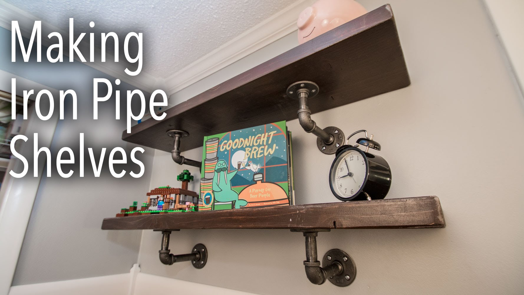 How To Make Industrial Iron Pipe Shelves Diy Fyi