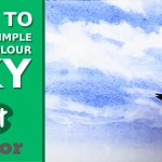 How to Paint a Simple Watercolour Sky