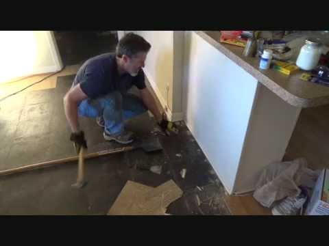 How to take up tile flooring