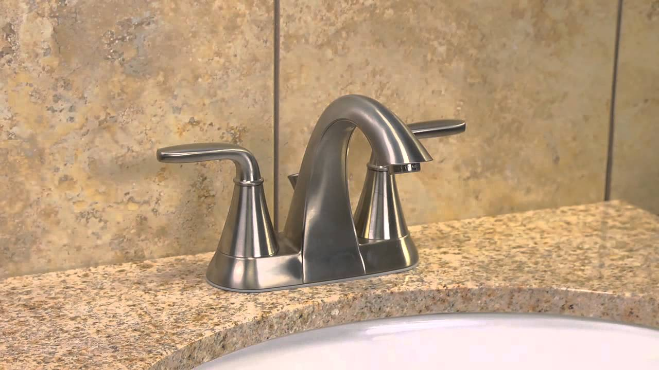 7 Faucet Finishes For Fabulous Bathrooms: Installing A Pfister 4″ Centerset Bathroom Faucet With A