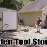 Lawn Tool Storage In A Garden Shed – 204