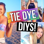 MUST TRY TIE DYE DIYS! Bikini, Shorts, T-Shirt & Room Decor! | LaurDIY