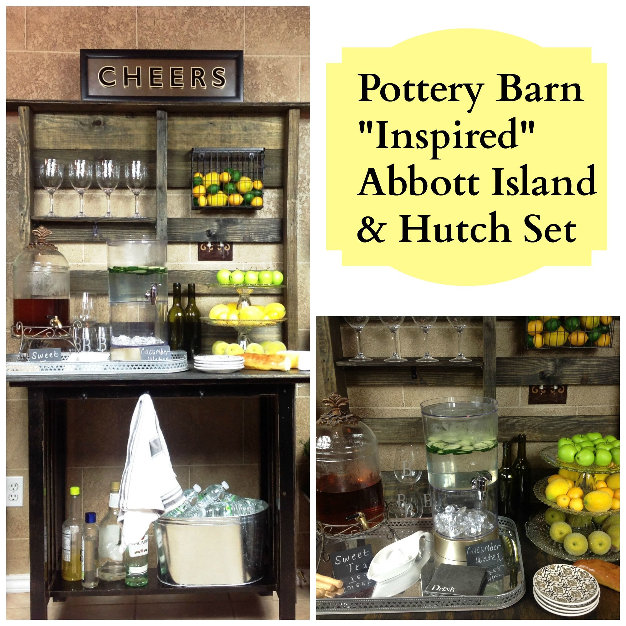 "New DIY: Pottery Barn ""Inspired"" Abott Island and Hutch"