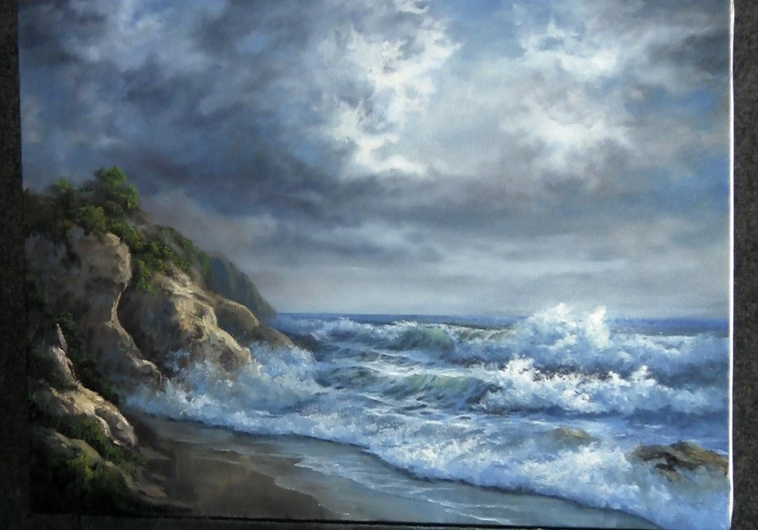Paint with kevin hill – rocky ocean shore | diy. Fyi.