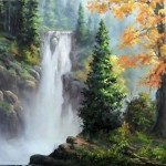 Paint with Kevin Hill – Rushing Waterfall
