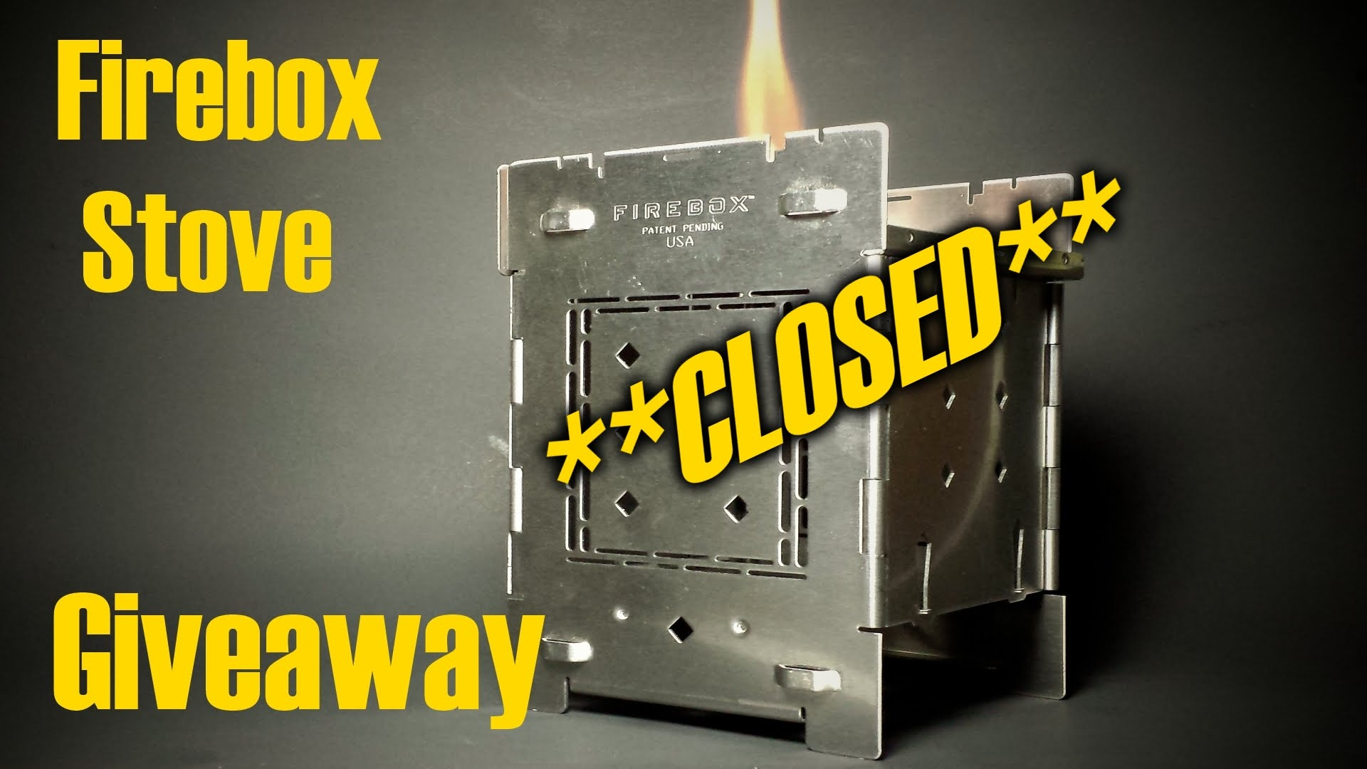 Random Giveaway *CLOSED* Folding Firebox Stove