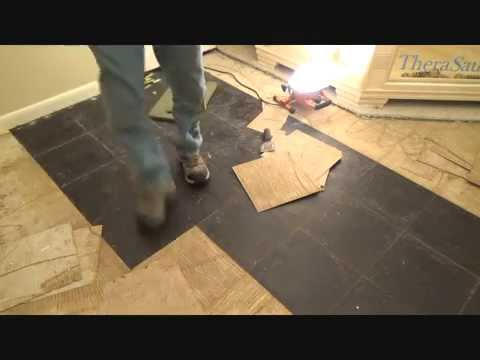 How to remove vinyl floor tiles