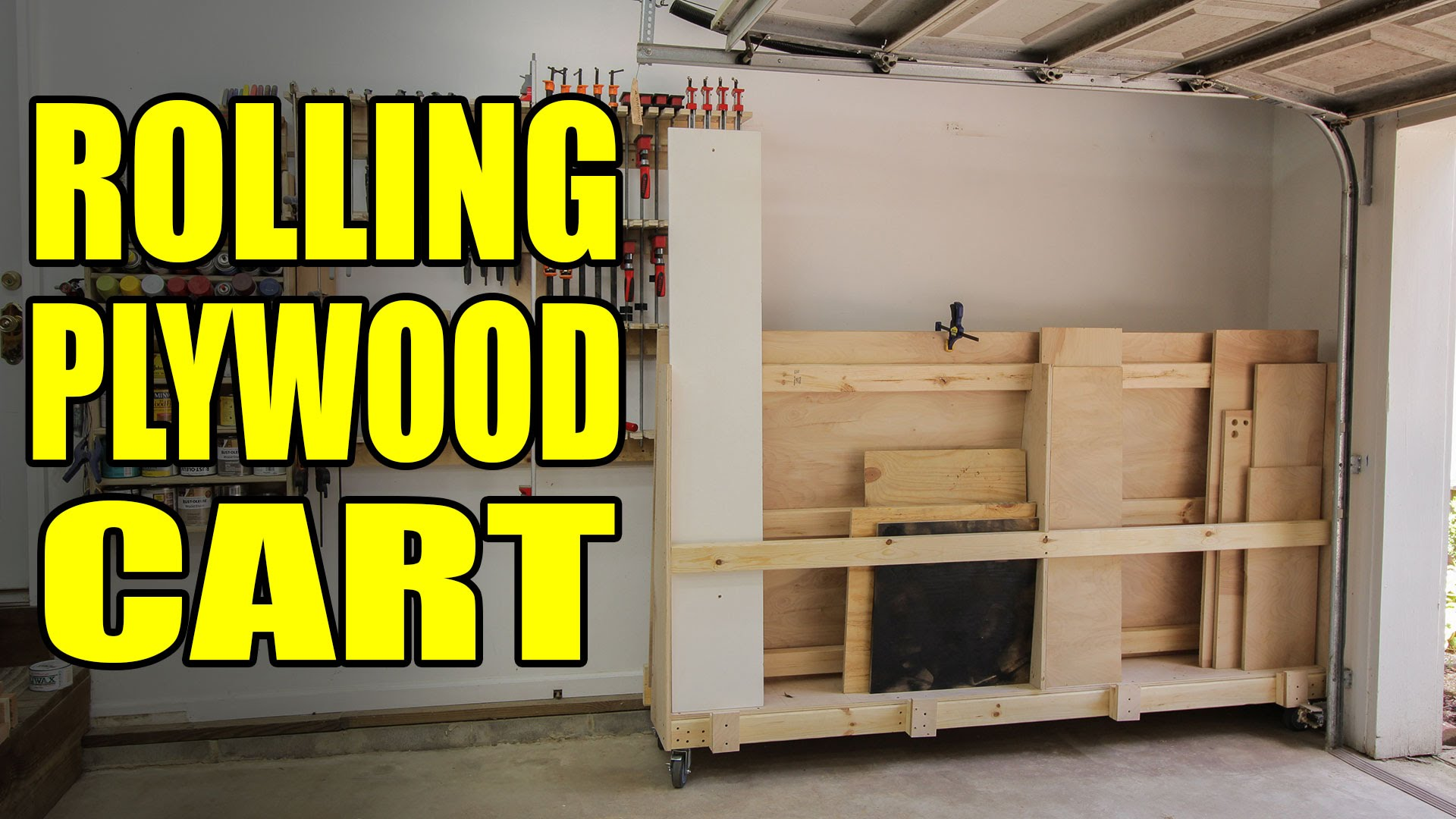 Rolling Plywood Cart For A