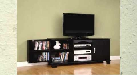 walker edison 60inch wood tv stand console black