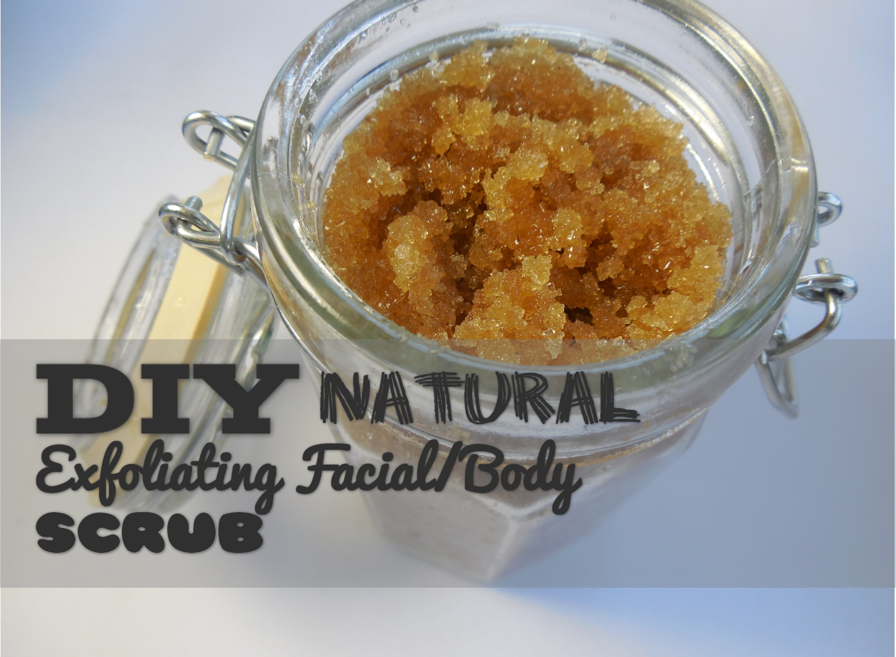 Watch this simple video on how to make an exfoliating scrub with…