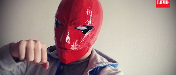 #107: Red Hood Helmet Part 3 – Paint & White Eyes | Costume Prop | How To | Dali DIY