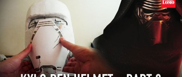 #110: Star Wars 7 Kylo Ren Helmet Part 2 – Papermache & Wall Filler | Costume | How To | Dali DIY