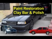 Auto paint restoration, how to use clay bar and a professional polisher. – VOTD