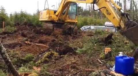 Pastor troys do it yourself world and off grid project assembly excavator clearing brush for the off grid cabin solutioingenieria Image collections