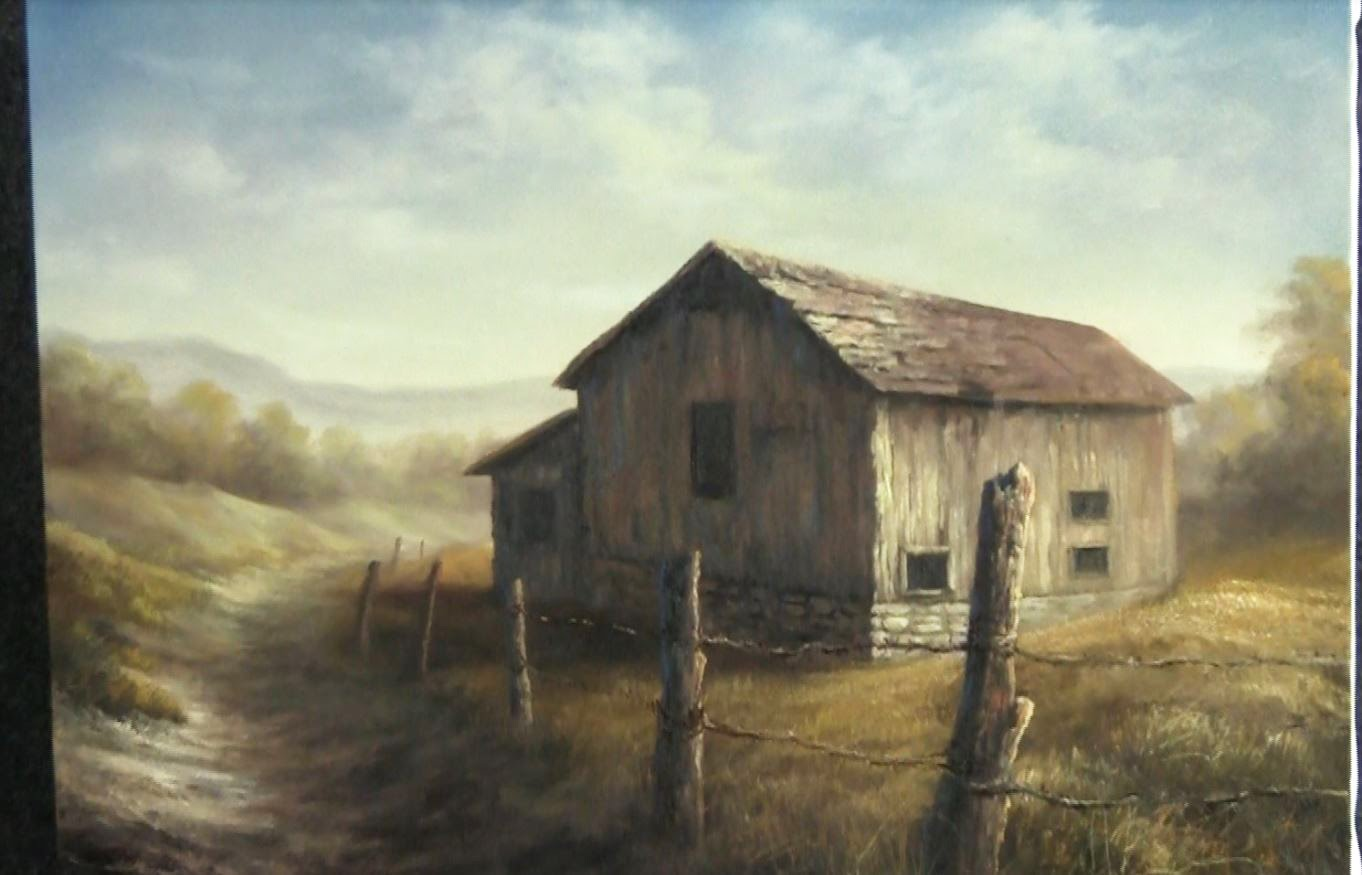 Paint with kevin desert barn for Watercolor barn paintings