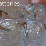 5 Homemade Batteries! (vinegar,lemon,lime,salt,water) DIY run lights/clocks/buzzers! w/volt&amp test