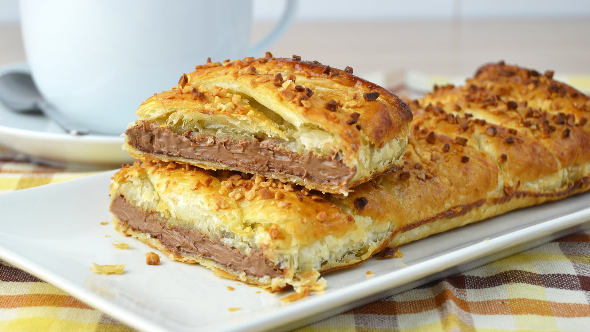 Chocolate Puff Pastry Braid Easy
