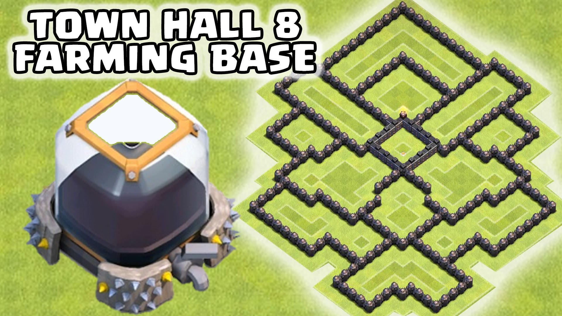 clash of clans epic town hall 8 th8 de farming base 100 dark