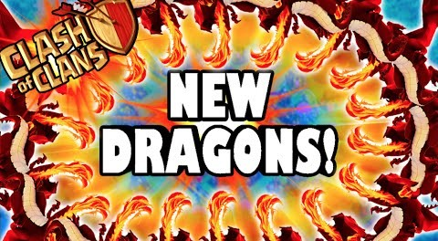 """Clash of Clans – NEW DRAGONS! """"FINALLY USING LEVEL 5 DRAGONS!"""" 3 Starring a TH9 With New Dragons"""