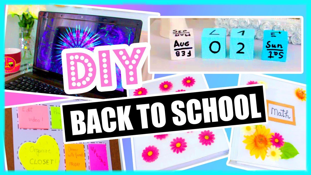 Diy back to school diy organization binder decorations for Back to school notebook decoration ideas