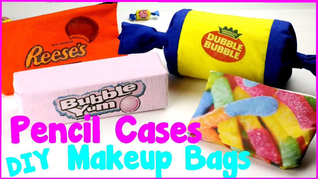 Diy Crafts 4 Easy Diy Candy Pencil Cases And Makeup Bags
