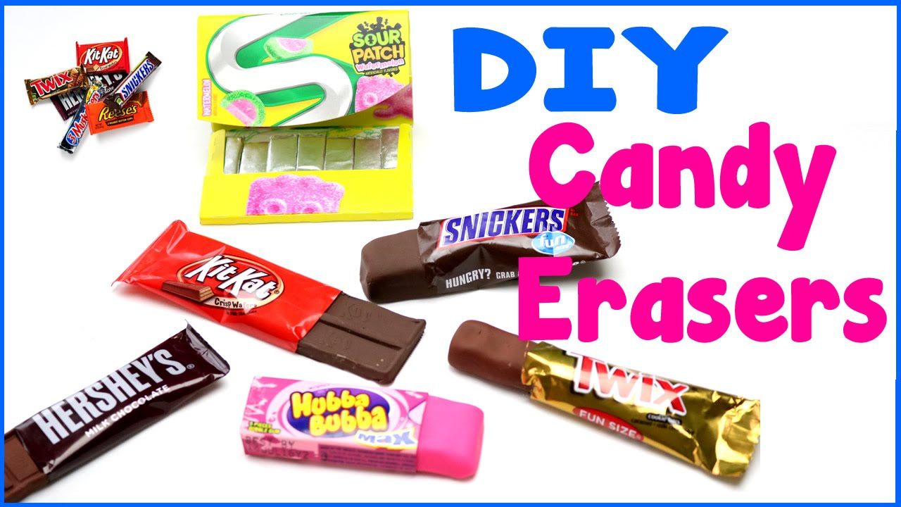 Diy crafts 6 easy diy candy erasers cool unique craft for Cool diy crafts to do at home
