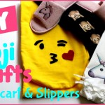 DIY Emoji Craft Ideas! 4 Easy DIY Project Tutorials {Slipper & Scarf Ideas}  Unicorn Emoji & more