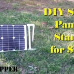 DIY Portable Solar Panel Stand for $10