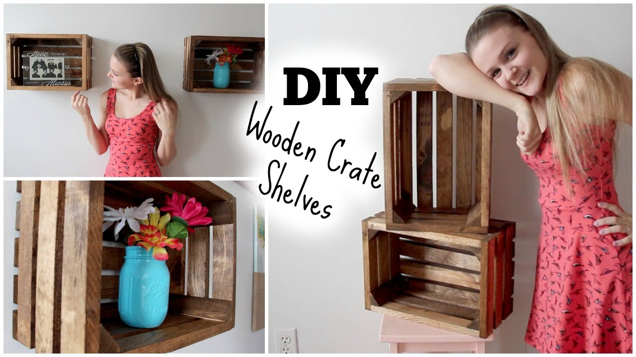 DIY Wooden Crate Shelves: Apartment Decor | diy.fyi