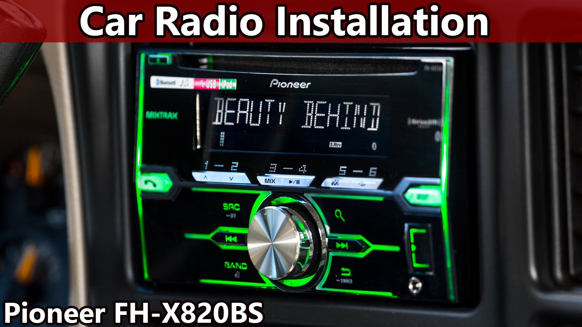 How To Install An Aftermarket Car Stereo Pioneer Fh X820bs Diy Fyi
