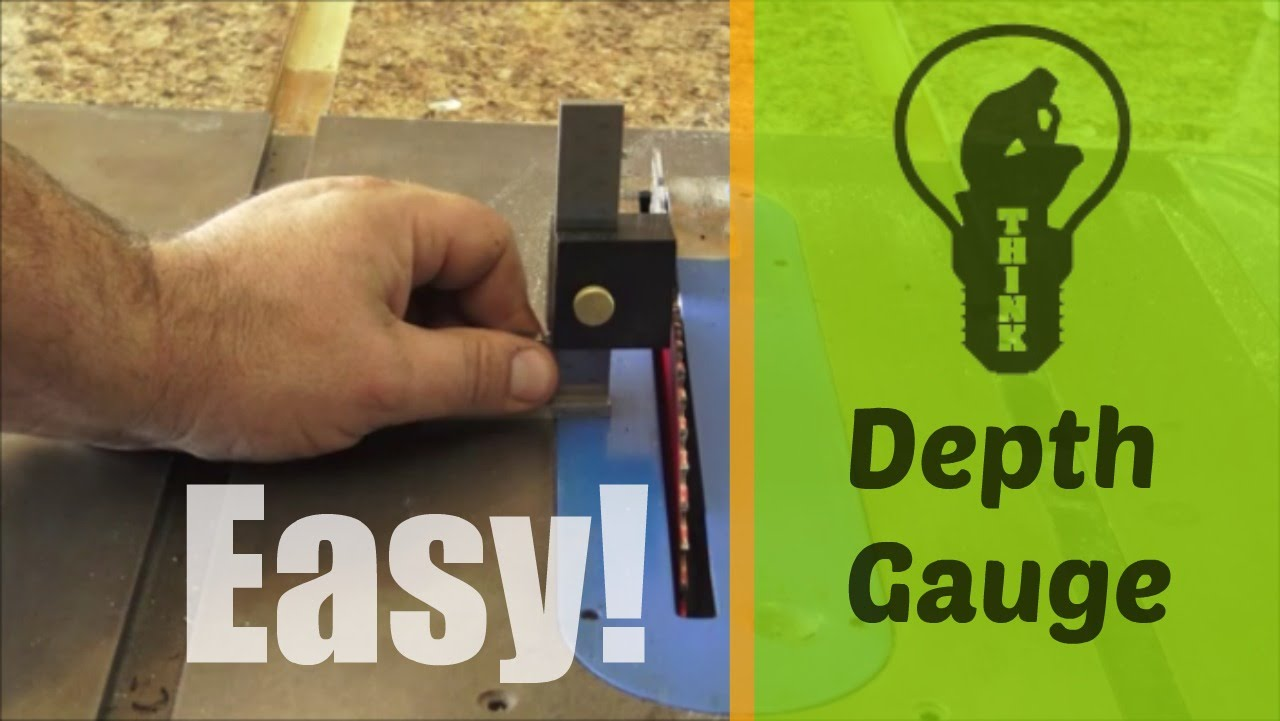 How To Make A Table Saw Router Depth Gauge Diy Fyi