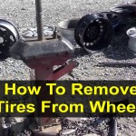 How to remove a tire from a rim or wheel with a manual tool. – VOTD