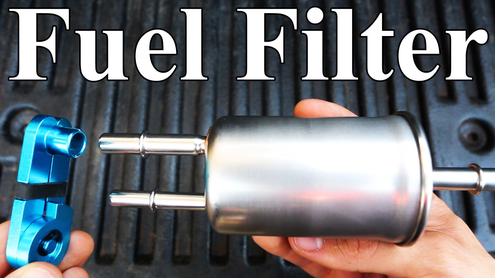 How To Replace a Ford Fuel Filter (homemade disconnect tool)