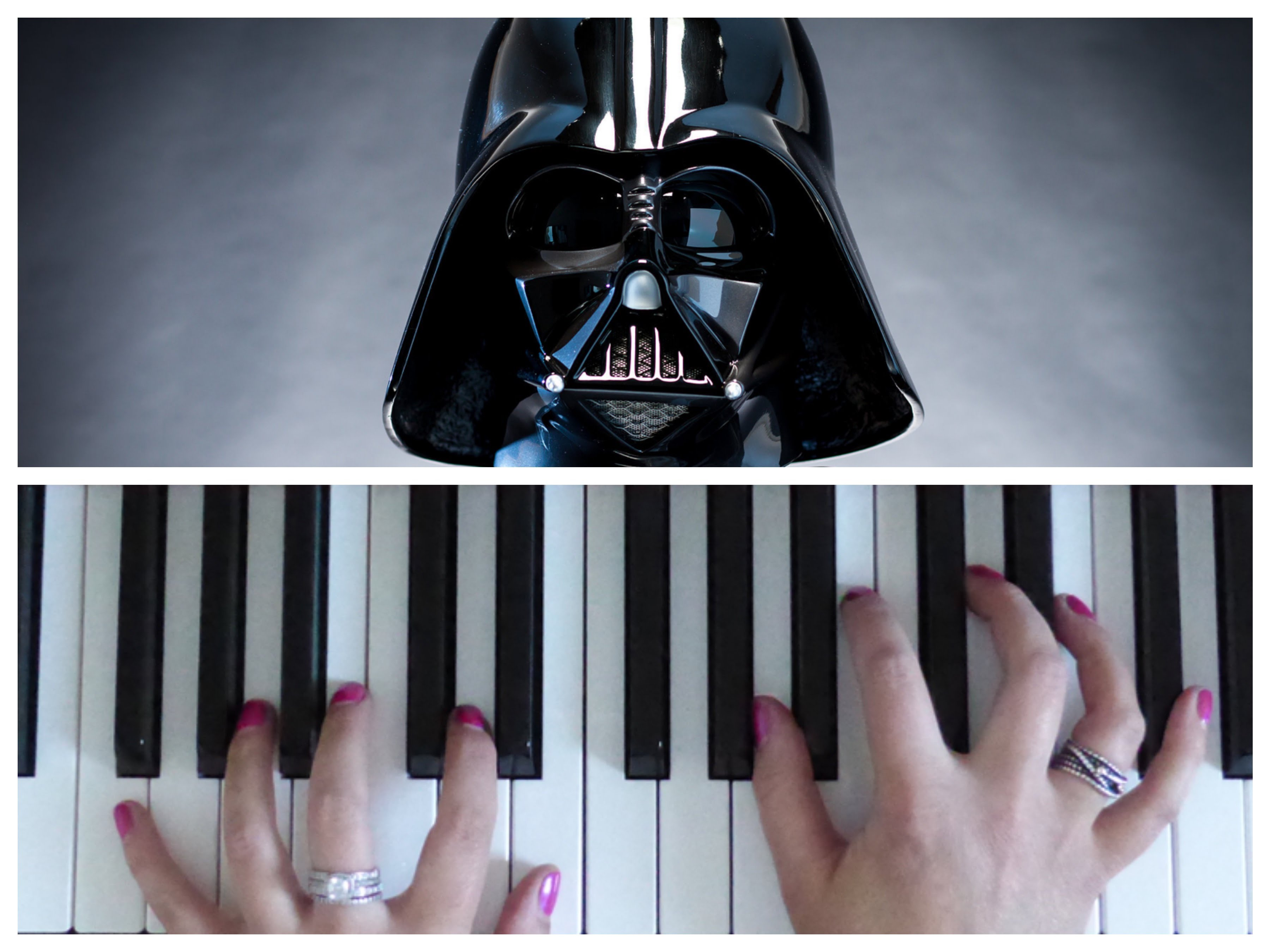 IMPERIAL MARCH Theme Star Wars | EASY Piano Tutorial | Darth Vader ...