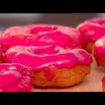 Karen's doughnuts with blackberry glaze