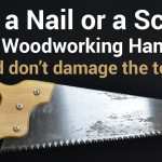 Life Hack for Cutting Nails or Screws with a Woodworking Hand Saw